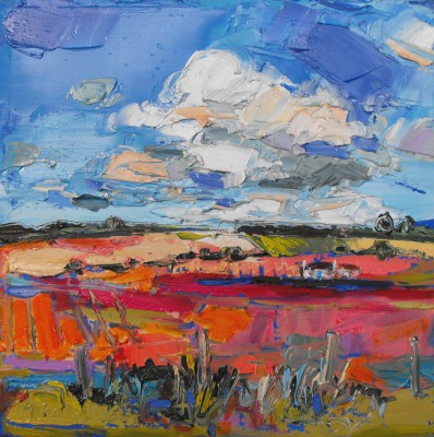 Judith BRIDGLAND, contemporary artist&nbsp;-&nbsp;<span style='color:red;font-size: 200%'>&#8226;</span> White Cloud, Aberdeenshire