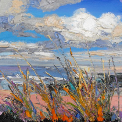 Judith BRIDGLAND, contemporary artist&nbsp;-&nbsp;<span style='color:red;font-size: 200%'>&#8226;</span> Vibrant Grasses by the Shore