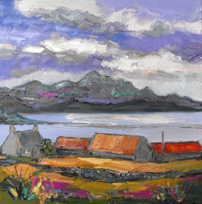 Judith BRIDGLAND, contemporary artist - Farm at Talmine, Sutherland
