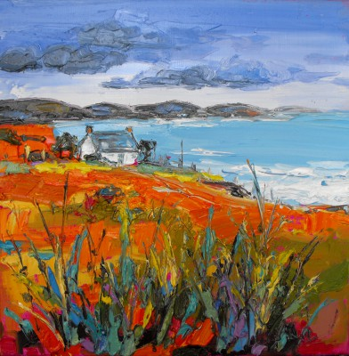Judith BRIDGLAND, contemporary artist - Cottage at Coigach, Achiltibuie
