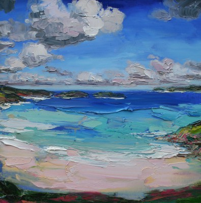 Judith BRIDGLAND, contemporary artist - Clouds over Coldbackie