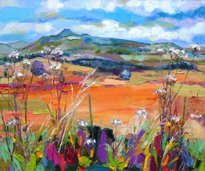 Judith BRIDGLAND, contemporary artist - Ben Lomond from Queens View