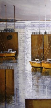 Judy HEMPSTEAD - Yellow Boats at Rest