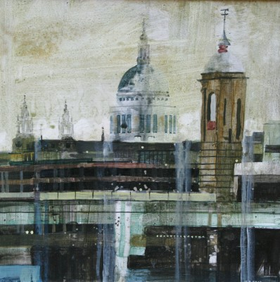 British Artist Julian SUTHERLAND-BEATSON - St Pauls and 3 Towers
