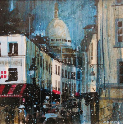 British Artist Julian SUTHERLAND-BEATSON - Montmartre at Dusk, Paris