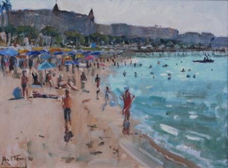 British Artist Karl TERRY - Cannes Beach 2