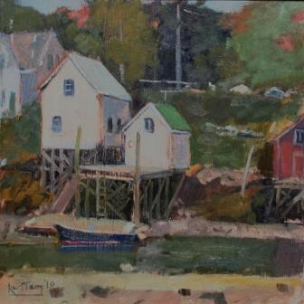 British Artist Karl TERRY - Lobster Shacks