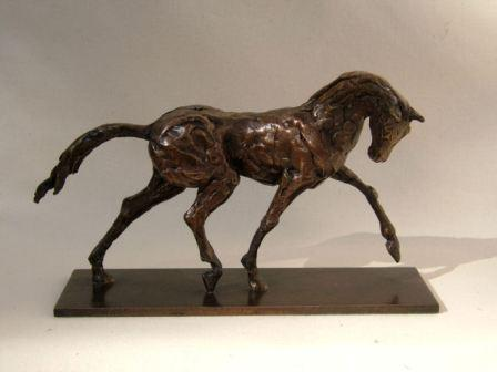 Sculpture and Sculptors Artist Kate DENTON - Dressage Study