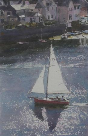 Keith NOBLE - Fowey Cornwall, Red and White