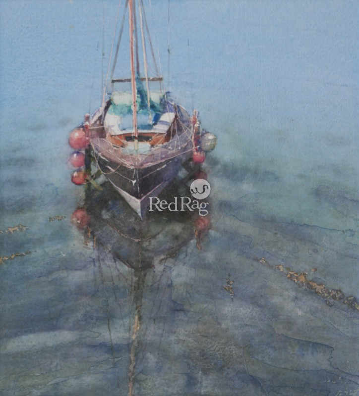 Keith NOBLE - Yacht and Reflection, Newlyn
