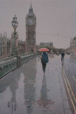 British Artist Keith NOBLE - Reflections Westminster