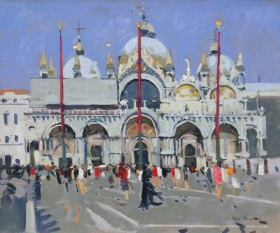 San Marco Venice Midday Light painting by artist Ken HOWARD RA