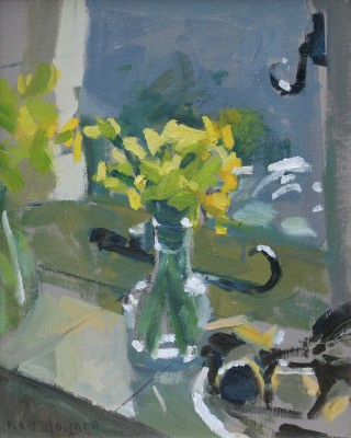 British Artist Ken HOWARD RA - Daffodils