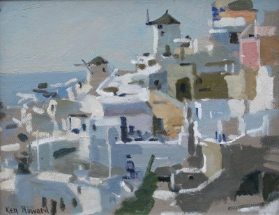 British Artist Ken HOWARD RA - Santorini
