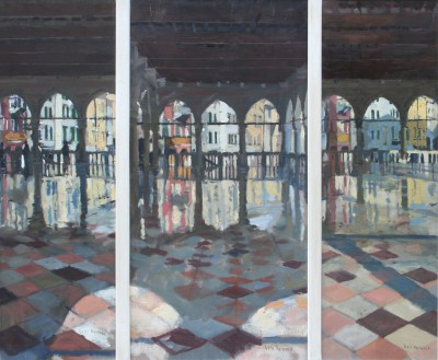 Udine Triptych painting by artist Ken HOWARD RA