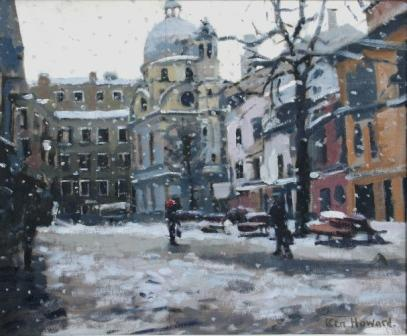 British Artist Ken HOWARD RA - S. Maria dei Miracoli Snow Effect