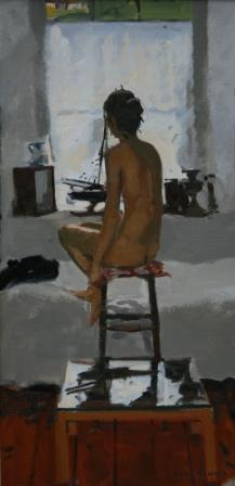 Ken HOWARD RA - Interior S. Clements Studio, Mousehole