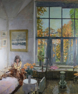 Ken HOWARD RA - Sarah at the Window