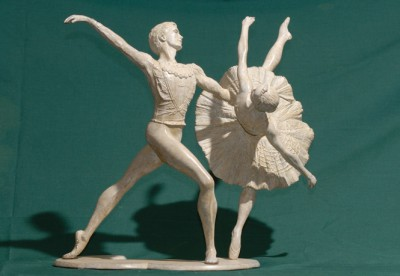 Sculpture and Sculptors Artist Kenneth ROBERTSON - Swan Lake