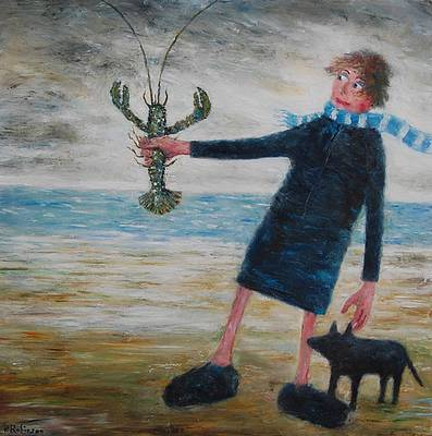 Paul Robinson - Lady and Dog admiring Lobster