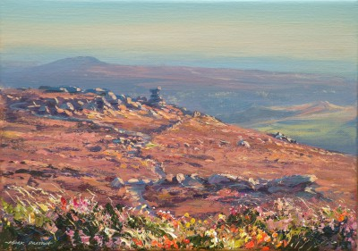 British Artist Mark PRESTON - Late Afternoon Light, Derwent Edge