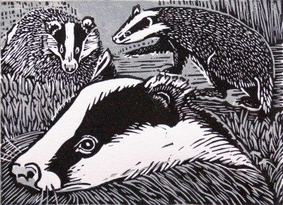Limited Edition Prints Artist Linda Richardson - Badgers