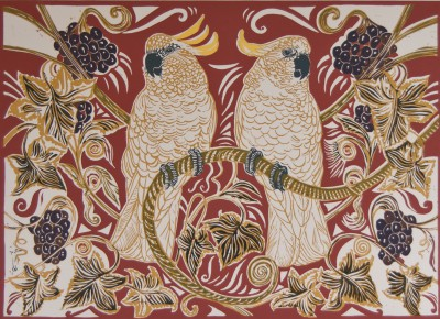 Limited Edition Prints Artist Linda Richardson - Birds and Vine
