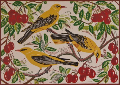 Limited Edition Prints Artist Linda Richardson - Golden Orioles and Plums