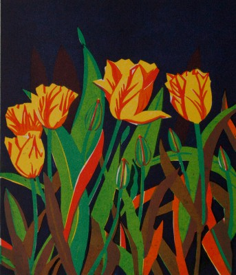 Limited Edition Prints Artist Linda Richardson - Tulips
