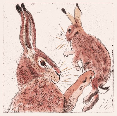 Limited Edition Prints Artist Linda Richardson - Two Hares
