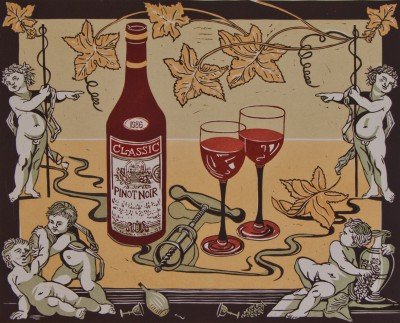 Limited Edition Prints Artist Linda Richardson - Wine