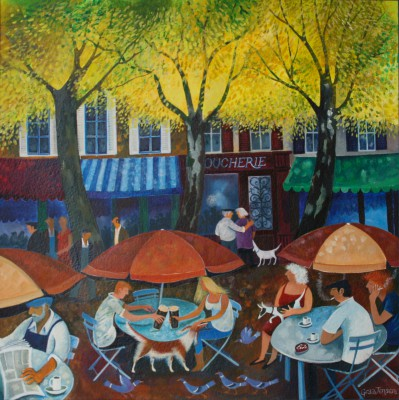 British Artist Lisa GRAA JENSEN - Cafe Culture