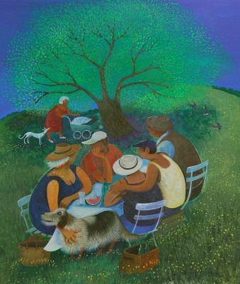 Lisa GRAA JENSEN, contemporary artist - Family Picnic