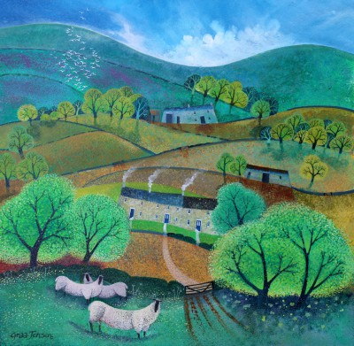 Hill Country painting by artist Lisa GRAA JENSEN