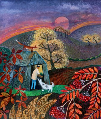 End Of The Day painting by artist Lisa GRAA JENSEN