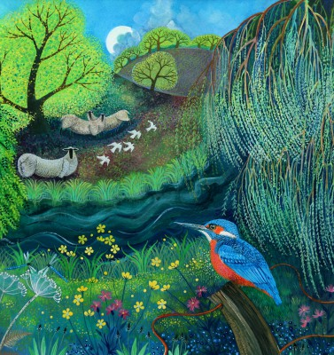 British Artist Lisa GRAA JENSEN - Kingfisher