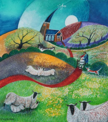 Kissing Gate painting by artist Lisa GRAA JENSEN