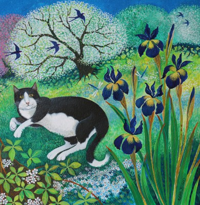 Kit's Garden painting by artist Lisa GRAA JENSEN