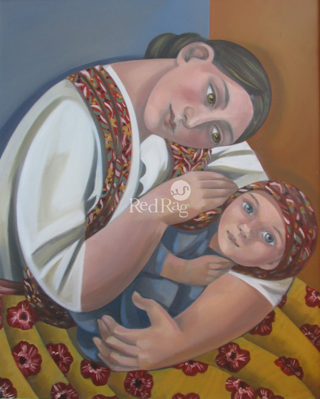 Elizabeth RIDGWAY - Mother and Child with Scarf
