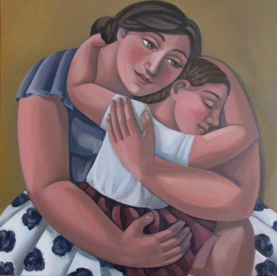 British Artist Liz RIDGWAY - Mother and Child