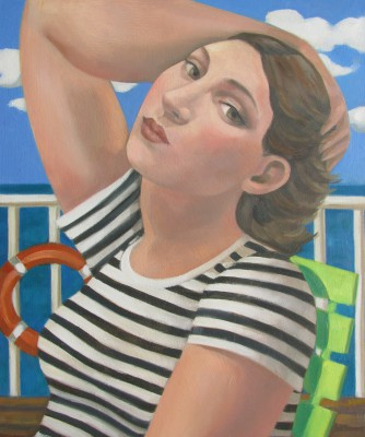 On Board  painting by artist Liz RIDGWAY