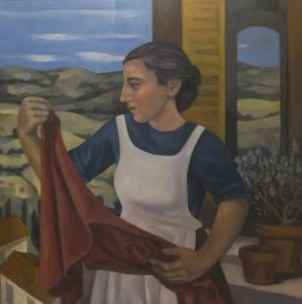 British Artist Liz RIDGWAY - The Housemaid