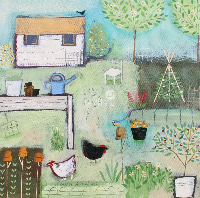 Louise RAWLINGS - Blue Watering Can