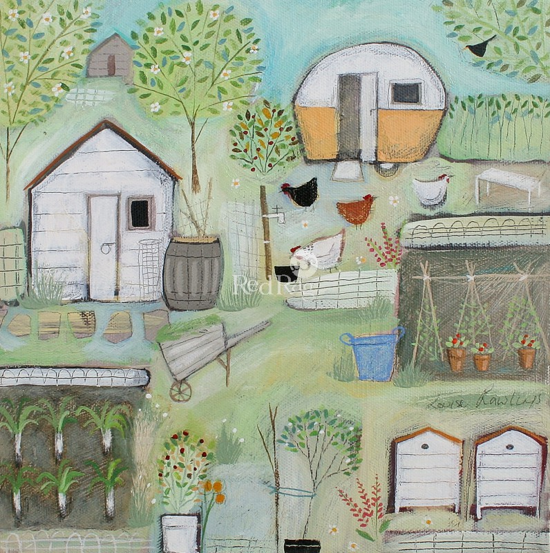 Louise RAWLINGS - Four Hens
