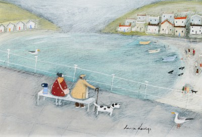 British Artist Louise RAWLINGS - A Flask and Bench Day