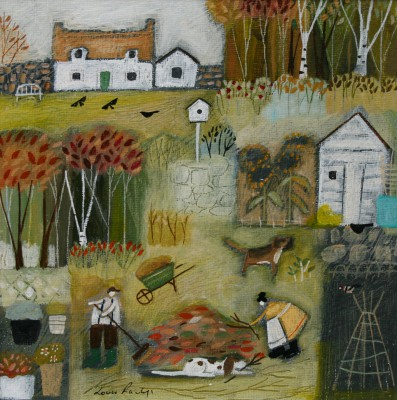 British Artist Louise RAWLINGS - Autumn in the Garden