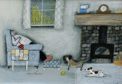 British Artist Louise RAWLINGS - Waiting for a Walk