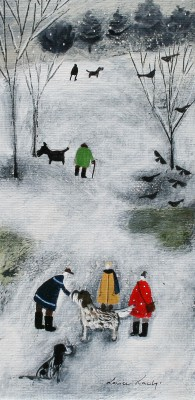 British Artist Louise RAWLINGS - The Bottom of Snowy Hill