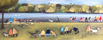British Artist Louise RAWLINGS - Wednesday Walking Group