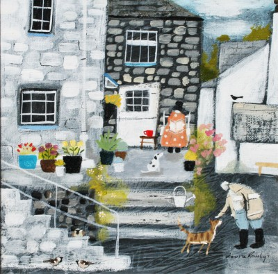 British Artist Louise RAWLINGS - Down a Quiet Side Street